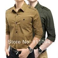 Men's clothing base Free shipping 2014 summer new men's shirt man long-sleeved Slim stylish casual shirts big size M-XXXL