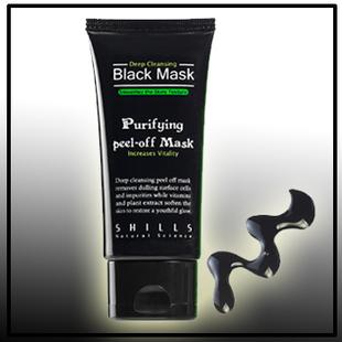 SHILLS Deep Cleansing purifying peel off Black mud Facail face mask Remove blackhead facial mask 50ml(China (Mainland))
