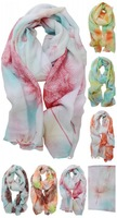 New Fashion Dandelion Printed Scarf Voile Soft Chiffon Long Scarves Wrap Shawl
