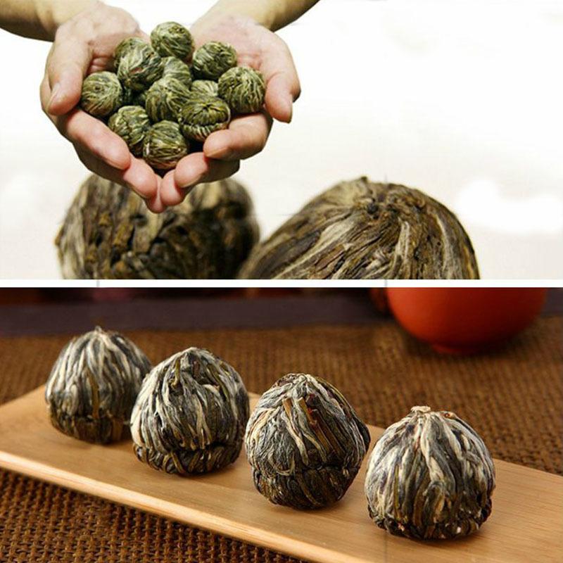 10 kinds Different Handmade New Designed Beautiful Blooming Flower Green Tea Ball 48430