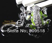 Metal Diamond Frog Pendant USB Key Drive 1GB 2GB 4GB 8GB 16GB 32GB Memory Flash Thumb Stick Key Pendrive 2.0