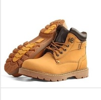 Fashion high fashion lacing round toe martin boots the trend of shoes increased boots casual leather male boots