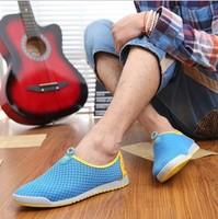 Summer Breathable Shoes Men's Skateboarding Shoes Gauze Breathable Casual Flats SH-056