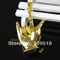 Metal Golden Finger Pendant USB Key Drive 1GB 2GB 4GB 8GB 16GB 32GB Memory Flash Thumb Stick Key Pendrive 2.0