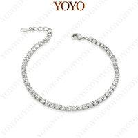 Statement Bracelet 18K White Gold Plated Use SWA Elements Clear Crystal Fashion Simulated Diamond Bracelet (YOYO B013W1)