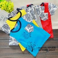 2014 baby boy summer 0-1 - 2 - 3 male female child 100% cotton casual o-neck short-sleeve T-shirt shirt