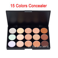 100pcs DHL free shipping 2014 New Professional 15 Colors Concealer Makeup Camouflage Natural Palette brand make up free shipping