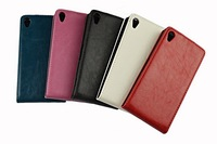 Hot sale special design ultra Slim Colorful Leather case cover for Sony Z2 experia free shipping