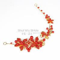 Isn't pearl rhinestone bridal hair accessory short formal dress hair accessory flower wedding dress accessories