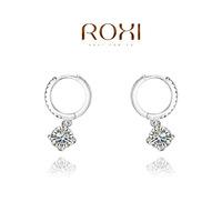 Wholesale ROXI Fashion Accessories Jewelry Big Austria Crystal Full CZ Diamond Water Drop Earrings for Women