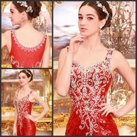 Free shipping Ultimate luxury crystal formal dress/wedding dresst the bride married formal dress evening dress xj65423