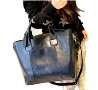 2014 bucket fashion women's handbag  vintage portable shoulder bag big purse Messenger Bags  Leather handbag Ladies pouch new