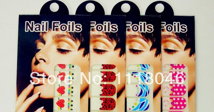 New Fashion 3D Nail Art Crystal DIY Foil Nail Wraps Stickers, nail sticker Minx Shiny Self Adhesive Nail Patch Decorate(China (Mainland))