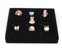 Free shipping Ring Organizer Show Case Jewelry Display Rings Holder Box 3 colors Jewelry Display Box