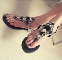 Free Shipping women's Fashion handmade star gem flat flip rhinestone beaded  lambdoid sandals