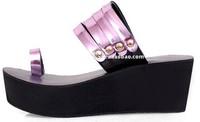 Free Shipping Purple women's platform  fashion slippers