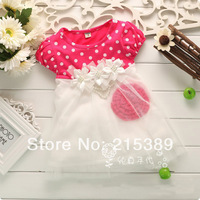 New 2014 summer children's clothing girl short floral dress kids clothing free shipping