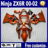 7gifts fairing body kits for ZX6R 00-02 kawasaki ninja ZX 6R 636 ZX-6R ZX636 ZX-636 2000 2001 2002 brown black race