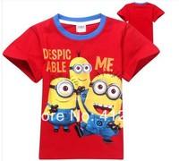 1pcs 2014 despicable me  boys girls nova t-shirts kids children's t shirts Apparel Tops & Tees