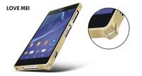 Original Ultra-thin 0.7mm Love mei Metal Bumper Aluminum case For Sony Xperia Z2 L50w Free shipping