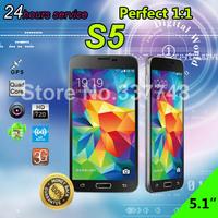 "2014 New arrival 2GB RAM HDC S5 I9600 Phone MTK6582 Quad Core Smart Mobile Phone 1:1 5.1"" 1280*720 Screen 13MP Camera 3G WCDMA"