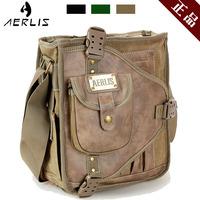 Aerlis male canvas shoulder bag vintage fashion preppy style student bag casual bag messenger bag