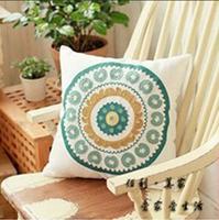 Kaozhen embroidery pillow blue pillow sofa pillow kaozhen cushion pillow office pillow
