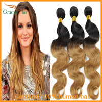 Queen Brazilian ombre body wave hair extensions two tone human hair weave 1-5 bundles lot body wave ombre human hair 10-26inch