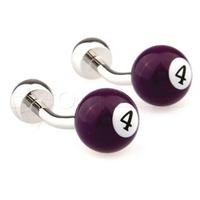 Men's jewelry Purple cufflinks Lucky Four billiard cufflinks AB8665