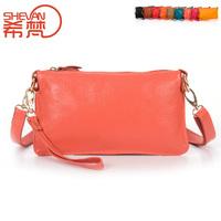 Genuine leather women's handbag clutch cowhide messenger bag shoulder bag handbag evening bag