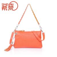 Genuine leather women's handbag messenger bag female casual chain of packet melon seeds portable