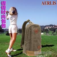 Aerlis women's handbag backpack shoulder bag chest pack canvas bag outdoor travel bag small bag