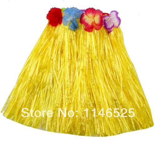 NOVO 5pcs / lot novos tipos de Hula havaiana Grama do partido da flor saia vestido de praia dança traje 2-5Y(China (Mainland))