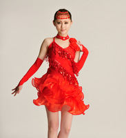 Latin dance performance wear square costume customized dance clothes according to your size