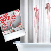 Novelty Bloodbath Shower Curtain Horror Bloody Handprint Waterproof Shower Curtain free shipping