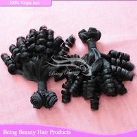 top quality 8a grade virgin hair 100% funmi hair european virgin hair 2bundles(8small pieces) natural black color 1b#