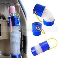 Free Shipping! Convenient Flexible Car Rain Umbrella Case Cover Handle Canister Magic Telescopic Umbrellas Holder  400-0005