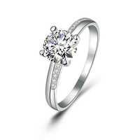 Free Shipping 100% Pure 925 Sterling Silver Crystal Rings, Wholesale Gorgeous Guarantee Jewelry,Can Drop Ship,XH532