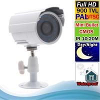 Free shipping Security Waterproof IP66 IR Bullet Mini Camera CMOS 900 TVL With Bracket Outdoor/ indoor