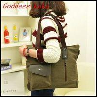 Hot sale Casual canvas bag women handbag vintage messenger bag fashion korean shoulder bags free shipping G026