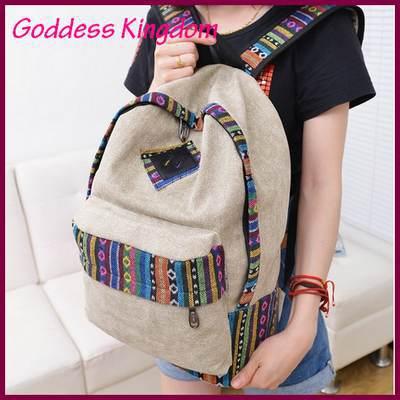 2014 Hot Fashion canvas women shoulder bags Vintage women backpack school bags for teenagers bolsas mochilas femininas A5175(China (Mainland))