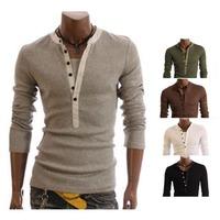 Mens Casual Slim fit Long Sleeve T-shirts