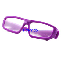 Passive 3D Glasses For Passive Cinema Or TV     purple   frame