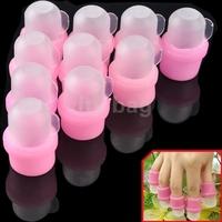 10 pcs/set Wearable Salon DIY Acrylic UV Gel Nail Polish Remover Soak Nail Soakers Cap Tool