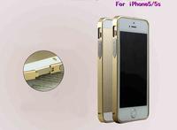 Luxury Ultra-thin 0.7mm Aluminum Metal Bumper Blade Case Bezel Frame For Apple iPhone 5 5S capa