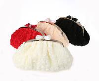 2014 new arriving Evening Bag Flower Bride Bag Purse full dress Party handbag Wedding Clutch Women Evening Purse 031123