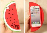 Unique shape design victoria series fruit watermelon case cover for iPhone 4 4S mobile phone silicone skin 4 colors