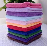 Hot! 10pcs/lot 25cmx25cm Microfiber Car Cleaning Towel Microfibre Detailing Polishing Scrubing Waxing Cloth Hand Towel