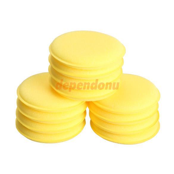 12pcs Polish Wax Foam Sponges Applicator Pads for Clean Car Vehicle Glass(China (Mainland))