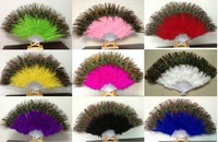 10pcs/lot  halloween party supplies Children's Day performing props down feather fan dance  70g